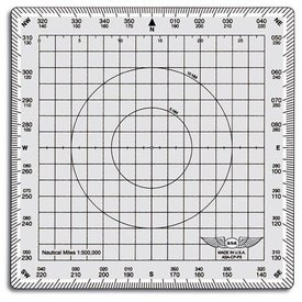 ASA - Aviation Supplies & Academics Douglas Protractor Square Aviation Plotter