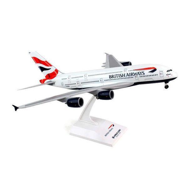 SkyMarks A380-800 British Airways G-XLEA 1:200 With Gear + stand