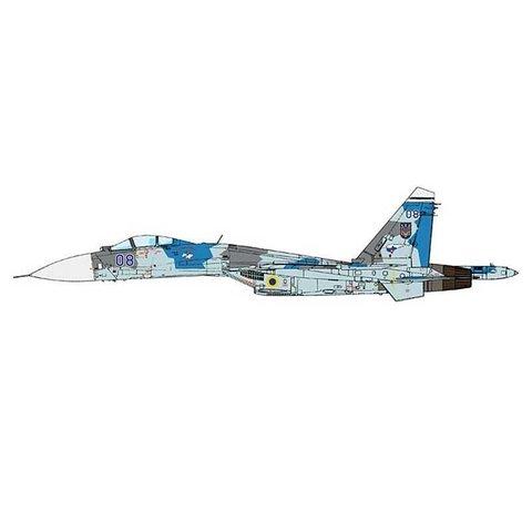 SU27 Flanker B 831 IAP Ukraine AF Blue 08 blue/grey 1:72 (no stand)