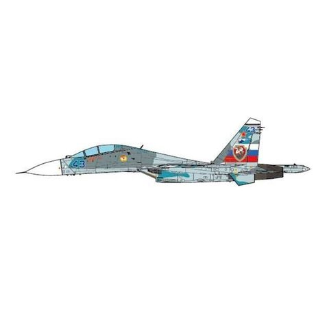 SU27UB Flanker C 54 GVIAP Savaslekya AB Russia BLUE43, Grey 1:72 (no stand)