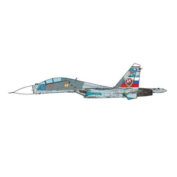 JC Wings SU27UB Flanker C 54 GVIAP Savaslekya AB Russia BLUE43, Grey 1:72 (no stand)