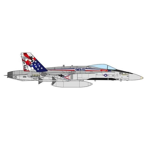 JC Wings F18A Hornet VMFA115 Silver Eagles USMC VE-201 Lajes, Portugal 1:72 (no stand)