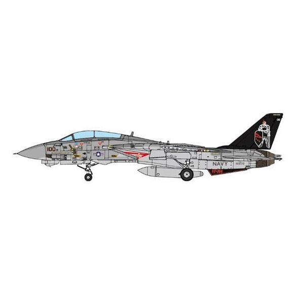 JC Wings F14A VF154 Black Knights NF-100 CV63 USS Kittyhawk 1:72 (no stand)