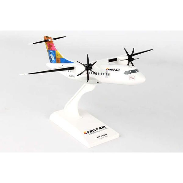 SkyMarks ATR42-500 First Air 70th Anniversary C-FTIK 1:100 with stand