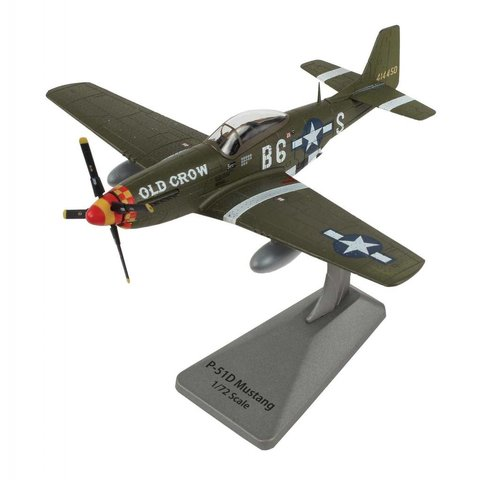 P51D Mustang Bud Anderson Old Crow 363FS 357FG B6-S Smithsonian Series 1:72 with stand