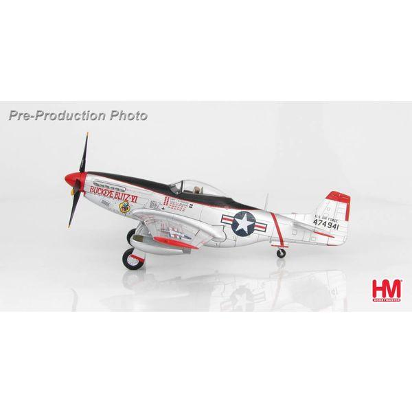 Hobby Master P51D 8FBW USAF Buckeye Blitz VI J.W. Rogers silver 1:48