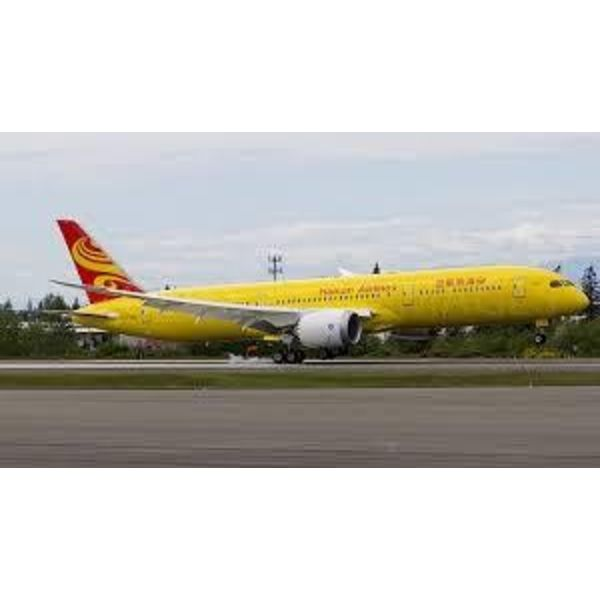 JC Wings B787-9 Dreamliner Hainan All Yellow B-7302 1:200 with Stand
