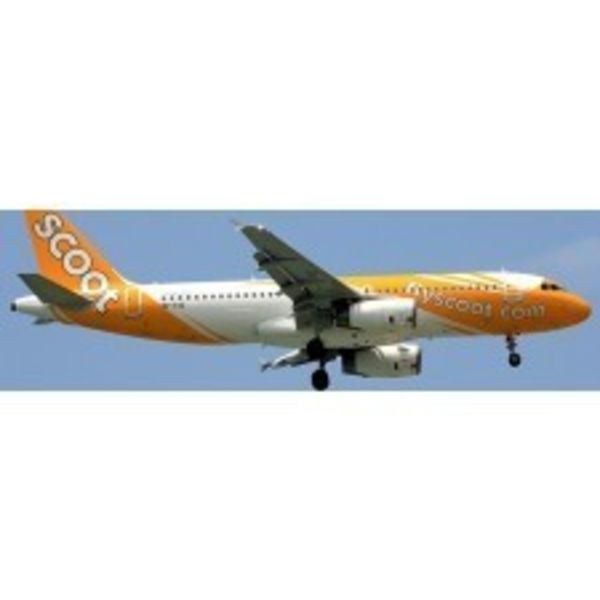 JC Wings A320 SCOOT 9V-TAZ w/Stand 1:400