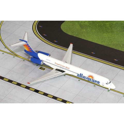MD80 Allegiant Air N865GA 1:200 with stand