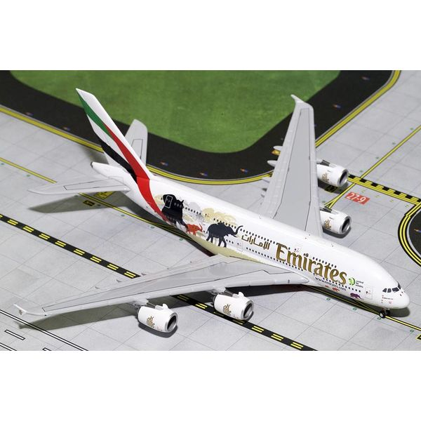 Gemini Jets A380-800 Emirates A6-EER Wildlife #2 logo 1:400