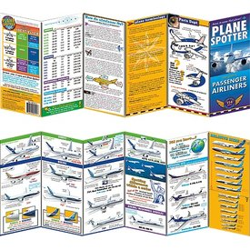 PlaneSpotter Passenger Airliners Laminated Identification Card
