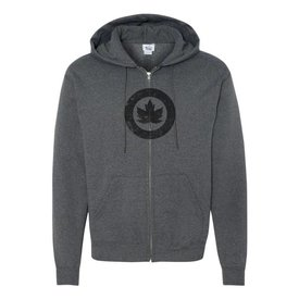 Labusch Skywear Classic RCAF Roundel Vintage Full Zip Hoodie Charcoal