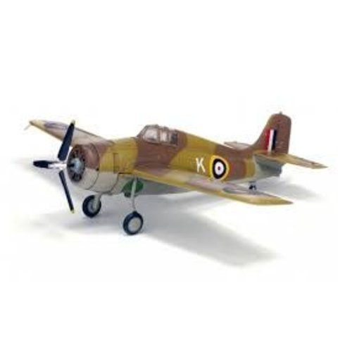 F4F Wildcat RAF Operation Torch North Africa K desert camo 1:72 with stand
