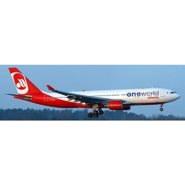 JC Wings A330-200 AIR BERLIN One World D-ABXA 1:200 with Stand