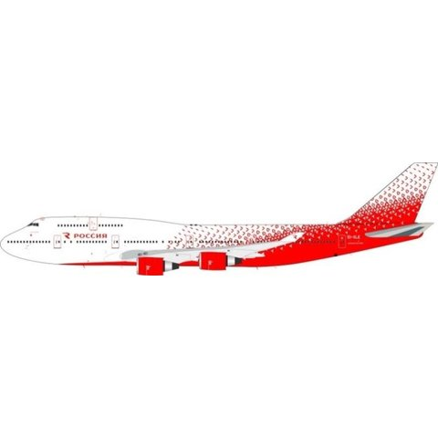 B747-400 Rossiya Russian Airlines NC16 EI-XLE 1:200 with stand