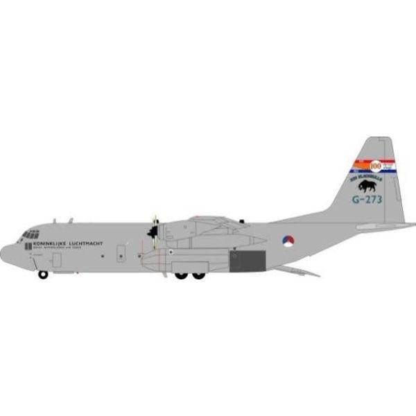 JFOX JFox2 C130H30/L382 Hercules Royal Netherlands Air Force RNLAF G-273 Blackbulls 100 Years 1:200 w/stand
