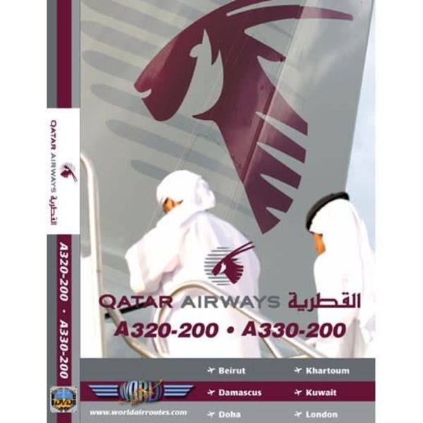 justplanes DVD QATAR AIRWAYS A320, A330-200  **O/P**