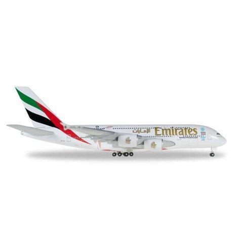 Herpa A380-800 Emirates Cricket World Cup A6-EEK 1:500+NSI+