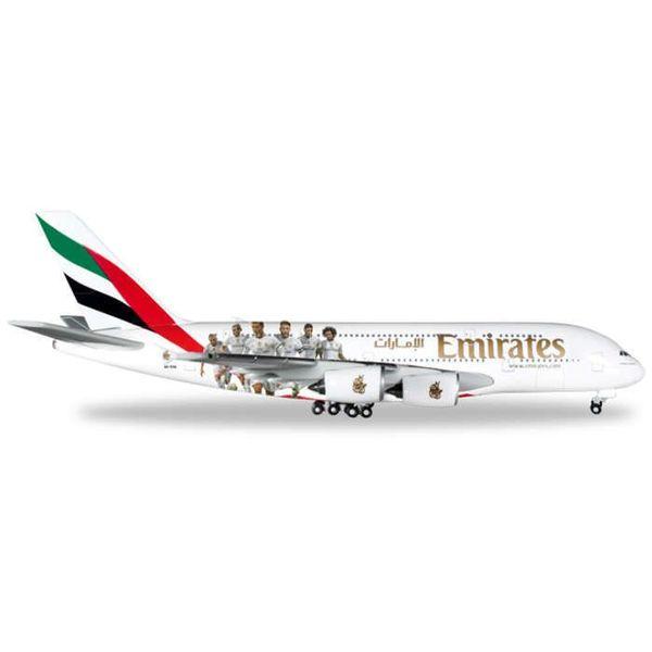 Herpa A380-800 Emirates Real Madrid 1:500+NSI+