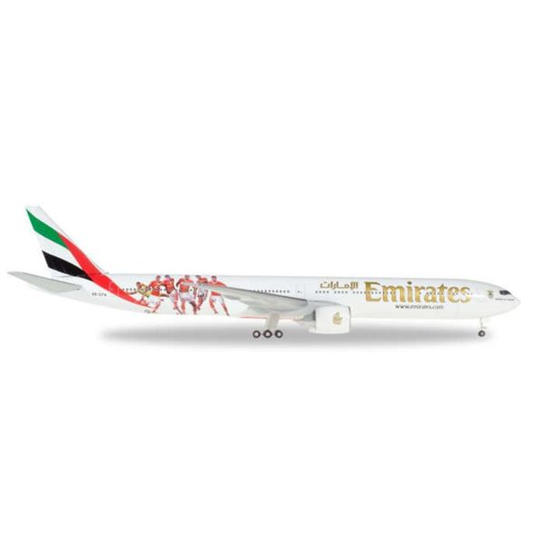Herpa B777-300ER Emirates Benifica Lissabon A6-EPA 1:500+NSI+