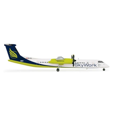 HERPA DASH8 Q400 SKY WORK (SWISS) 1:200+NSI+