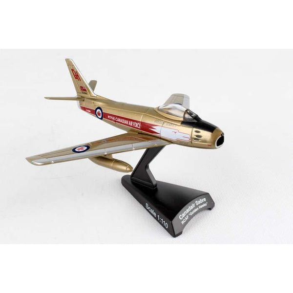 Postage Stamp Sabre 6 RCAF Golden Hawks 1:110 with stand (F86)