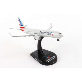 Postage Stamp Models B737-800W American Airlines 2013 livery 1:300 with stand