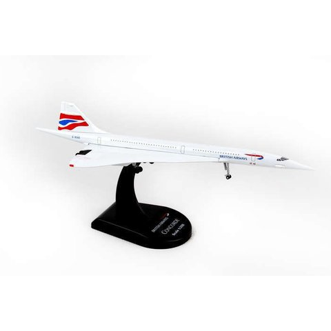 Concorde British Airways Union Jack Livery 1:350 with stand