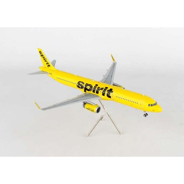 Gemini Jets A321S Spirit Yellow 2014 Livery 1:200 with stand