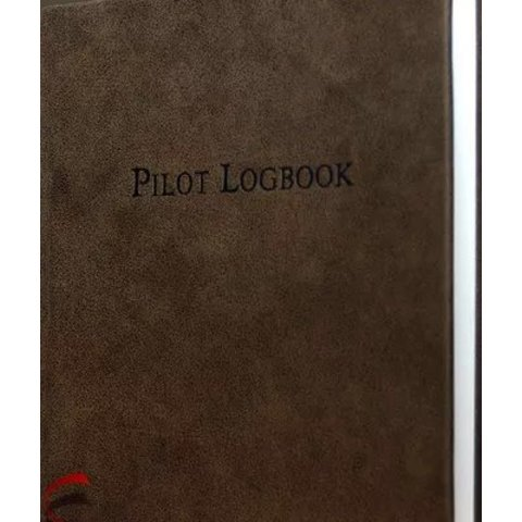 """Pilot Logbook Aviation Brown leather, hardcover 9"""" x 9 1/4"""""""
