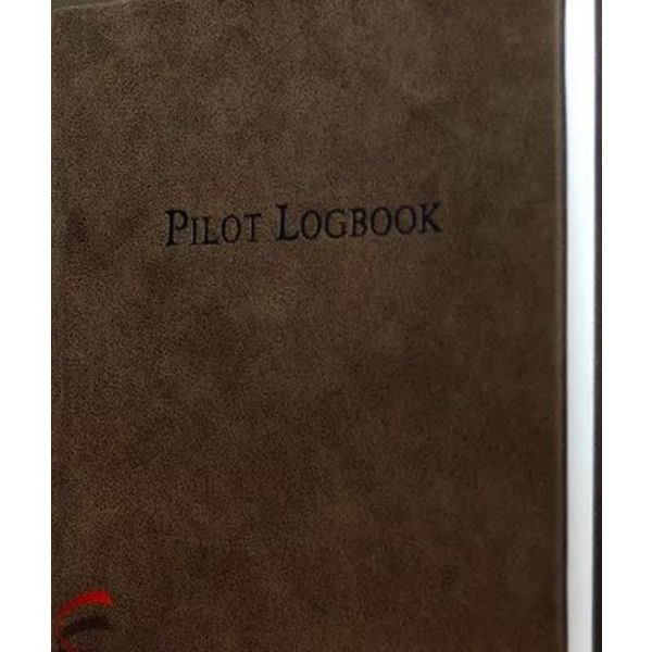 "Leather Pilot Logbook Aviation Brown hardcover 9"" x 9 1/4"" (Suede/Distressed)"