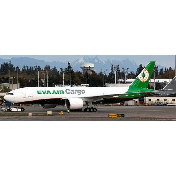 JC Wings B777F EVA Air Cargo NC15 B-16781 1:400 flaps down