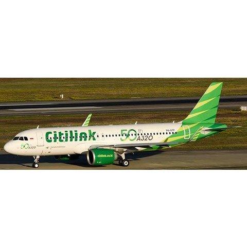 JCWIN A320neo Garuda Citilink 50th A320 PK-GTF 1:400 w/Antenna