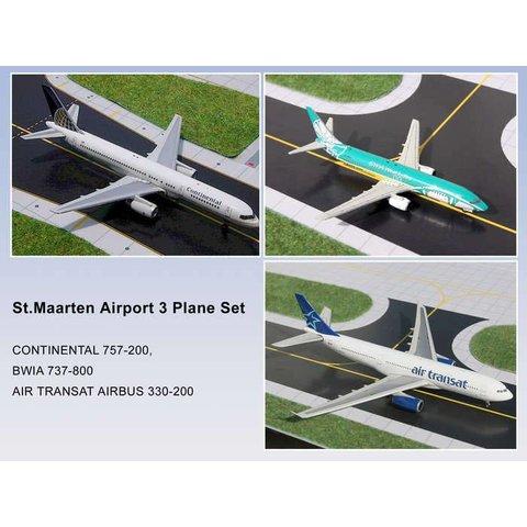 Set St.Maarten TSC A310, BWIA B737-800, COA B757-200 1:400 (3 pack)