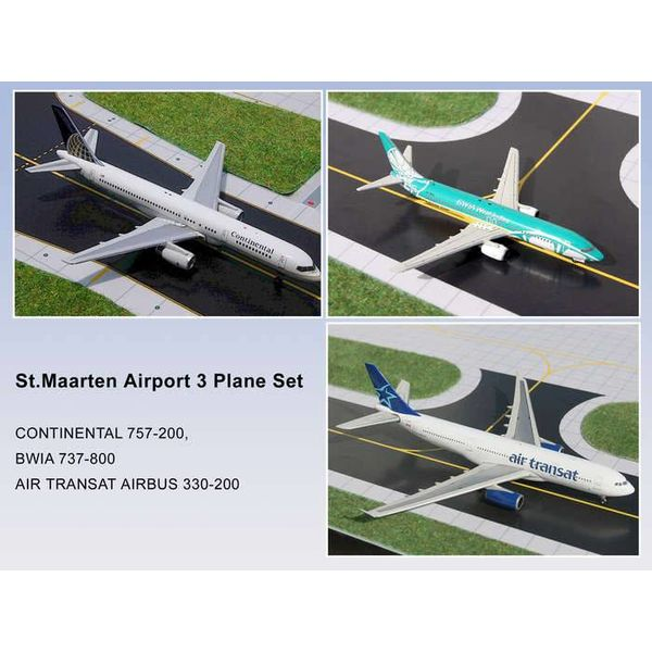 Gemini Jets Set St.Maarten TSC A310, BWIA B737-800, COA B757-200 1:400 (3 pack)
