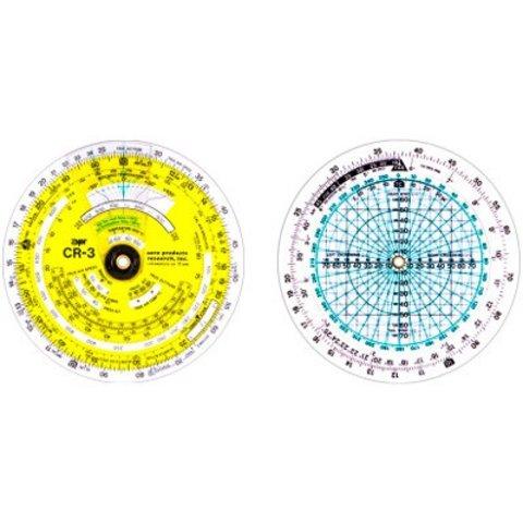 "CR3 Time / Speed / Distance Circular Flight Computer 3-3/4"""