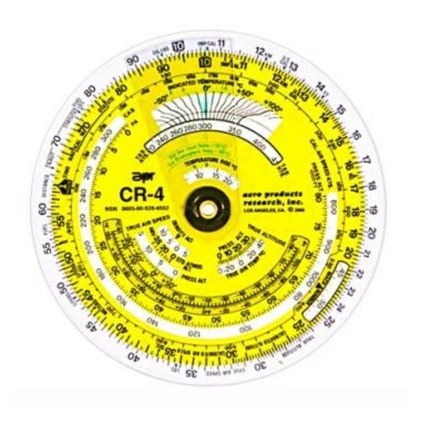 APR Industries CR4 Time / Speed / Distance Circular Flight Computer