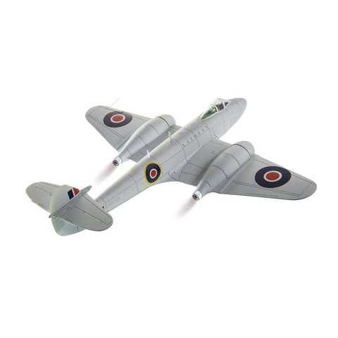 Meteor F3 616 Squadron RAF Silver 1:72 with stand