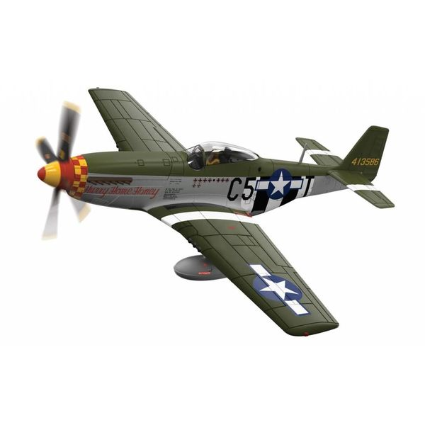 Corgi P51D Mustang 364FS 357FG USAAF Hurry Home Honey 44-13586 C5-T 1:72 with stand