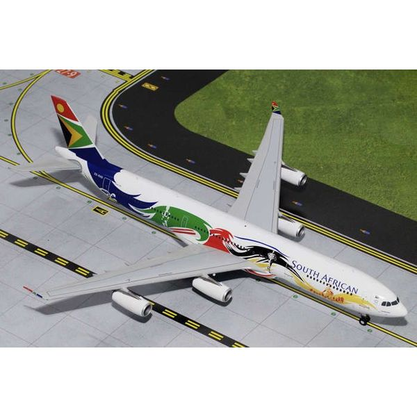 Gemini Jets A340-300 South African Siyanqoba Olympics ZS-SXD 1:200 with stand