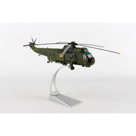 Sea King HC4 846 NAS Squadron FAA Falklands ZA890/VC 1981 1:72 with stand