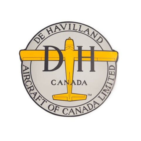 Dehavilland Aircraft Of Canada Logo Beaver 3.5 Inch Sticker