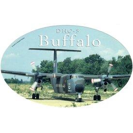 deHavilland DHC5 Buffalo Oval Camouflage CAF 3 3/4'' X 6'' Sticker