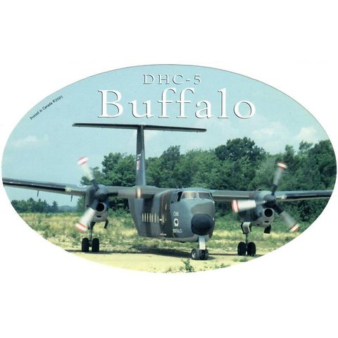 DHC5 Buffalo Oval Camouflage CAF 3 3/4'' X 6'' Sticker