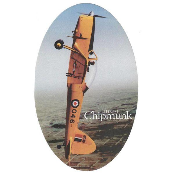 deHavilland DHC1 Chipmunk Oval Vertical 6'' X 3 3/4'' Sticker
