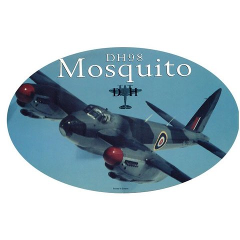 Dh98 Mosquito Oval Banking 3 3/4'' X 6'' Sticker