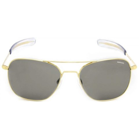 Aviator 23k Gold Gray Glass Bayonet 52MM Sunglasses **DISC