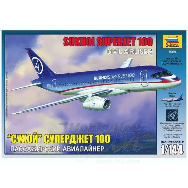 Zvesda SSJ100 Sukhoi Superjet 100 House 1:144 Scale Kit