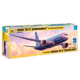 Zvesda B787-9 MAX Boeing House Livery 1:144 Scale Kit