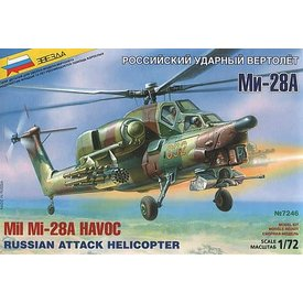 Zvesda MIL28A HAVOC HELICOPTER 1:72 SCALE KIT
